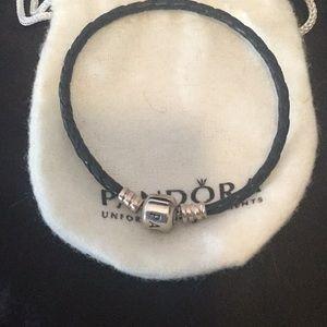 Pandora leather cord bracelet